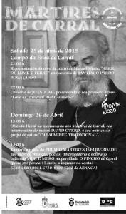 Cartel Mártires de Carral 2015