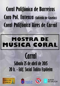 Cartel Mostra Música Coral 2015.