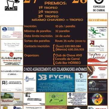 II TORNEO DE CHAVE  POR PARELLAS EN CARRAL