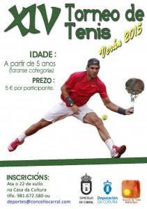 Cartel Torneo de tenis 2015