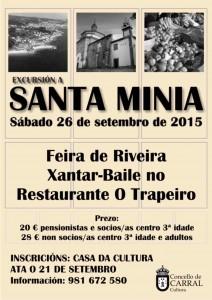 Cartel Excursión a Santa Minia