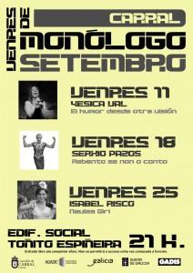 Cartel venres de monólogo Carral 2015