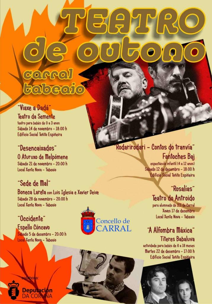 Cartel Teatro de Outono 2015.