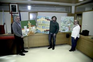 Luis Galán - alcalde - concelleira cultura - Carral 2015 web