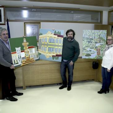 O DESEÑADOR LUIS GALÁN CEDE TRES OBRAS AO CONCELLO DE CARRAL