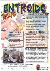 CARTEL ENTROIDO 2016 CARRAL