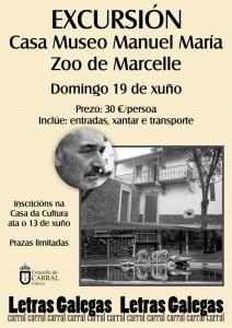 Cartel Excursión Casa Musei Manuel María Marcelle.