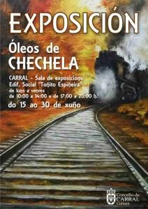 Cartel exposición óleos Chechela.