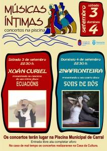 Cartel Músicas Íntimas 2016.