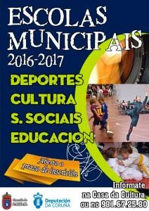 Cartel Escolas Municipais 2016-17