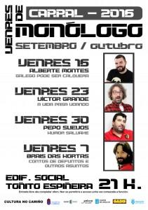 Cartel VENRES DE MONÓLOGO Carral 2016.