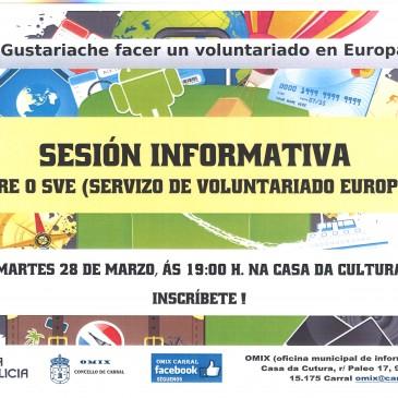 SESIÓN INFORMATIVA SOBRE O SVE (Servizo de Voluntariado Europeo).