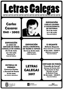 Cartel Letras Galegas 2017 Carral