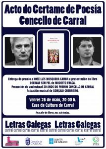 Cartel acto Poesía 2017.