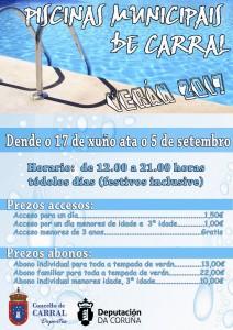 cartel piscina 2017