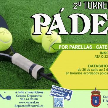 II TORNEO DE PÁDEL DE CARRAL