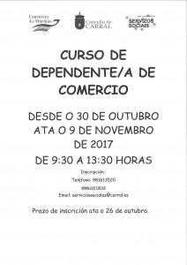 cartel curso dependiente comercio servizos sociais
