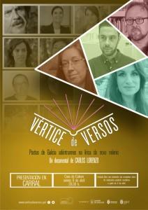 Cartel Vértice de Versos en Carral.