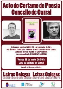 Cartel acto Poesía Carral 2018.