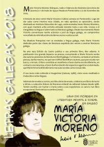Cuartillas Letras Galegas María Victoria Moreno.