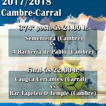 O PAVILLÓN DE ESPIÑO ACOLLE AS FINAIS DA 2ª COPA DE FÚTBOL SALA CAMBRE-CARRAL