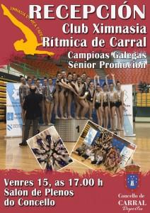 Cartel Recepción Club X. R.Carral