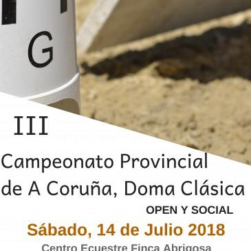 CARRAL ACOLLE A III EDICIÓN DO CAMPIONATO PROVINCIAL A CORUÑA DE  DOMA CLÁSICA