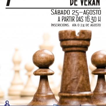 CARRAL CELEBRA O VII TORNEO DE XADREZ DE VERÁN ESTE SÁBADO