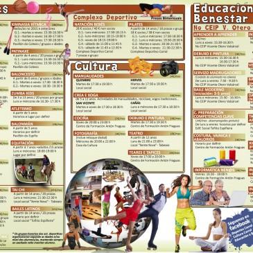 CARRAL ABRE O PRAZO DE INSCRICIÓN PARA O CURSO 18/19 DAS ACTIVIDADES MUNICIPAIS
