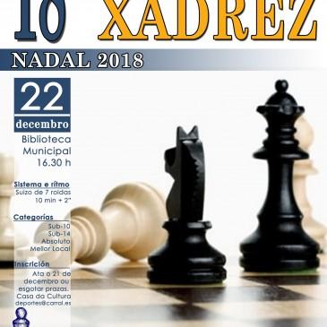 MEDIO CENTENAR DE XADRECISTAS PARTICIPARÁN NO  XVIII TORNEO DE NADAL DE CARRAL