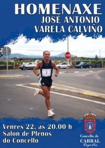 Cartel Homenaxe Varela Calviño