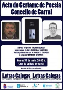Cartel Acto poesía 2019.