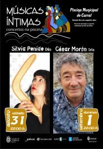 Flyer imprenta Músicas Íntimas Carral 2019 - trazado.