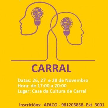AFACO ORGANIZA EN CARRAL UN CURSO FORMATIVO PARA COIDADORES DE PERSOAS CUNHA DEMENCIA