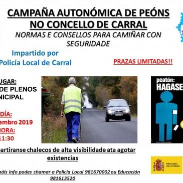 CAMPAÑA AUTONÓMICA DE PEÓNS NO CONCELLO DE CARRAL