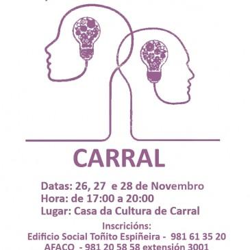 A Casa da Cultura de Carral acollerá un curso formativo para coidadores de persoas con demencia