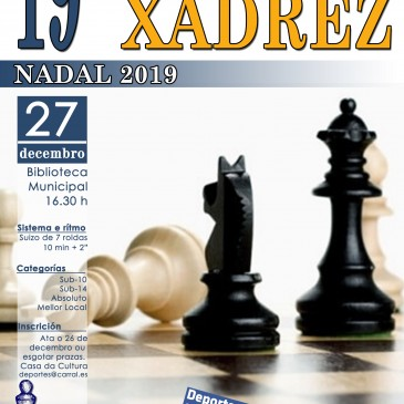 XIX TORNEO DE XADREZ DE NADAL EN CARRAL