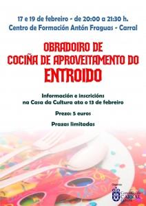 Cartel Cociña Entroido 2020.