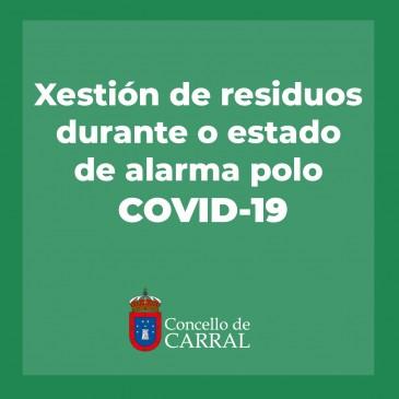 INFORMACIÓN DO CONSORCIO AS MARIÑAS SOBRE A XESTIÓN DE RESIDUOS