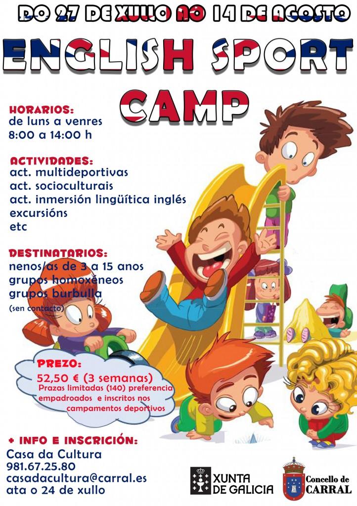 Cartel English Sport Camp
