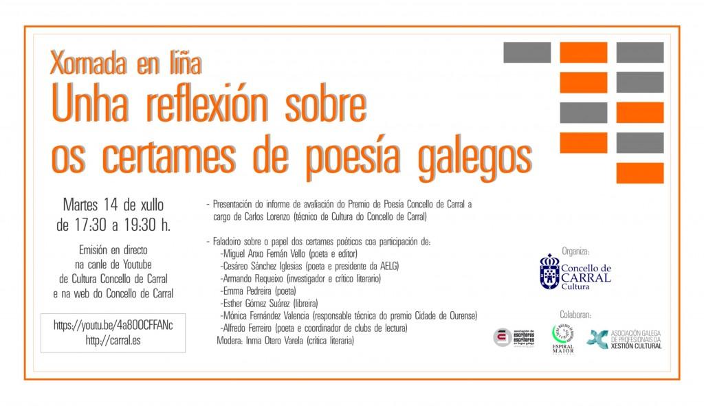 Imaxe convite Xornada premios poesía con link.