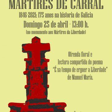 HOMENAXE NO 175 ANIVERSARIO DOS MÁRTIRES DE CARRAL