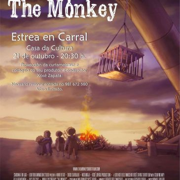 """A CASA DA CULTURA ACOLLE A ESTREA DE """"THE MONKEY"""", A CURTAMETRAXE GALARDOADA EN FESTIVAIS DE VIGO E PORTUGAL"""